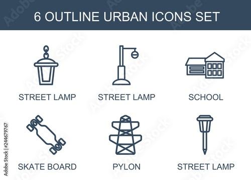 Fototapeta 6 urban icons obraz na płótnie