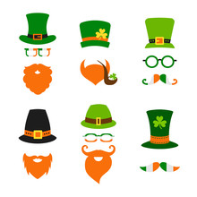 St Saint Patricks Day Leprechaun Hat Beard