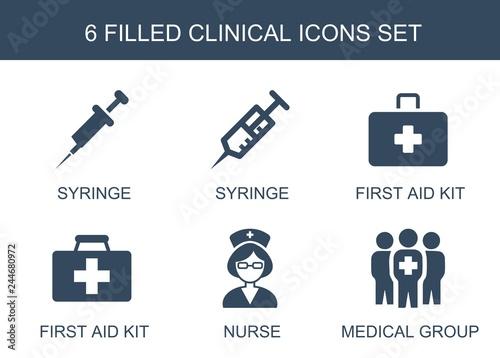 Fotografia  6 clinical icons