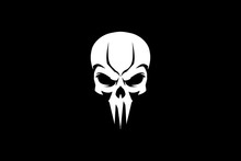 Simple Skull Head Vector Templ...