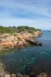 The coast of l'ametlla de mar on the coast of tarragona
