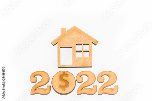 Fotografia  Saving for home purchase - 2022. Top view