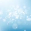 Light blue sky abstract background. Nature blur defocused bokeh light effect template. EPS 10