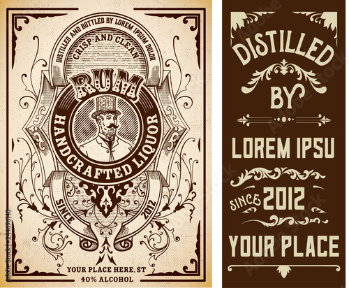 Vintage Liquor Labels Template Buy This Stock Vector And