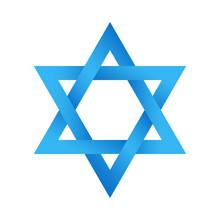 Star Of David Magen David Israel Shabbat Shalom Hanukkah Passover Rosh Hashanah Purim Torah Jewish Insignia Symbol Sign Logo Emblem Label Badge Blue