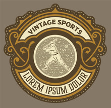 Old Retro Baseball Logo.organized By Layers
