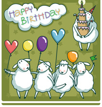 Birthday Card Design With A Ve...