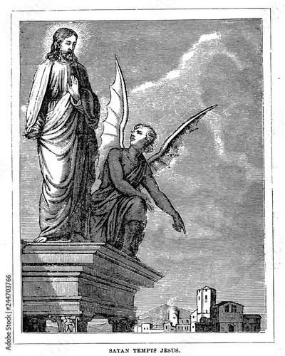 Obraz na płótnie Satan tempts Jesus