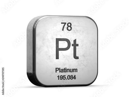 Platinum Element From The Periodic Table Series Metallic
