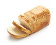 Leinwandbild Motiv Sliced bread isolated on a white background