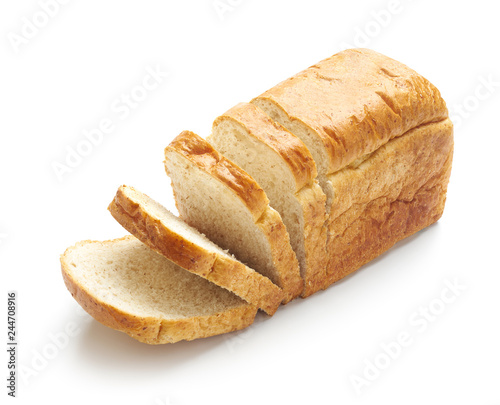 Fotografia Sliced bread isolated on a white background
