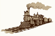Vector Illustration. Locomotive