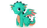 Fototapeta Dino - Cute dragon cartoon