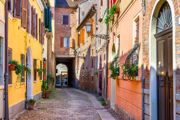 Cozy narrow street in Ferra...