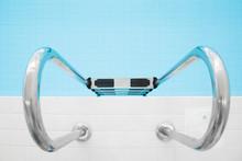 Metallic Ladder In Swimming Po...