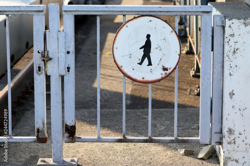 Fotografía  Interdiction aux piétons