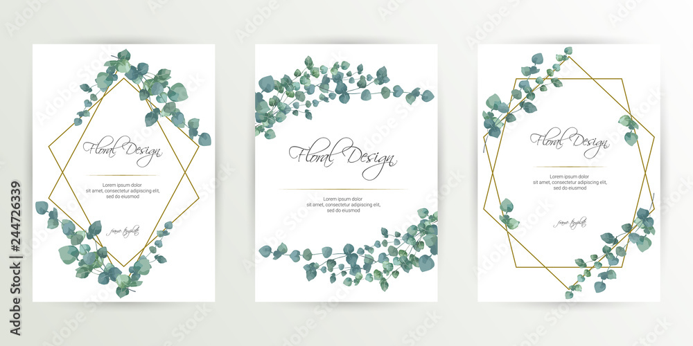 Banner On Flower Background Wedding Invitation Modern Card