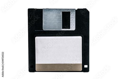 Canvastavla old computer floppy disk on white