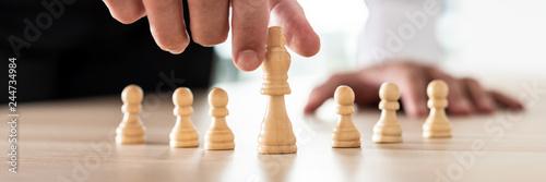 Fotografie, Obraz  Conceptual image of business leadership