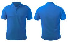 Blue Collared Shirt Design Template