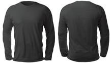 Black Long Sleeved Shirt Desig...