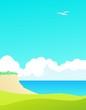 Seaside background design