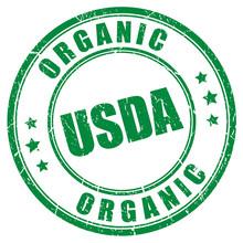 Usda Organic Vector Stamp
