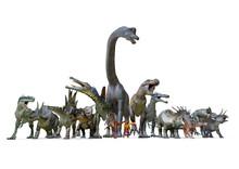 Range Of Dinosaurs, 3D-Renderi...