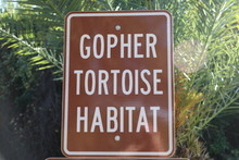 Gopher Tortoise Habitat Sign