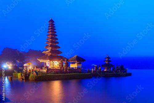 Deurstickers Asia land Ulun Danu temple at Beratan Lake, The landmark of Bali in Indonesia