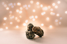 Weed Cannabis Marijuana With Sparkling Background