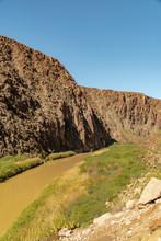 Rio Grande River Canyon Side