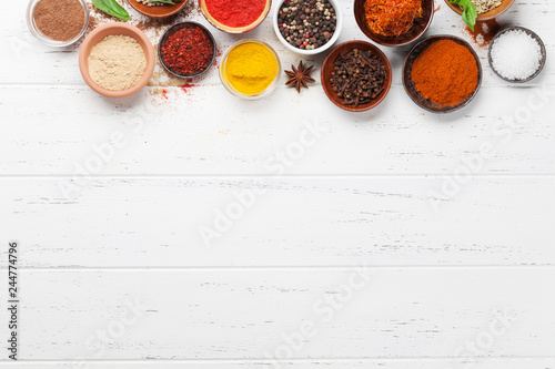 In de dag Aromatische Set of various spices and herbs