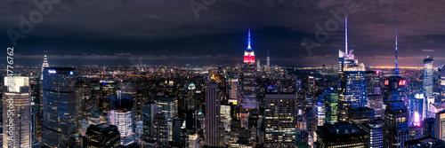 Panoramica de la ciudad de Nueva York - Manhattan Wallpaper Mural