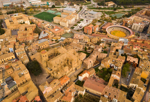 Huesca as seen from drone