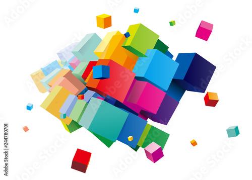 Fototapeta 立方体 イメージ デザイン
