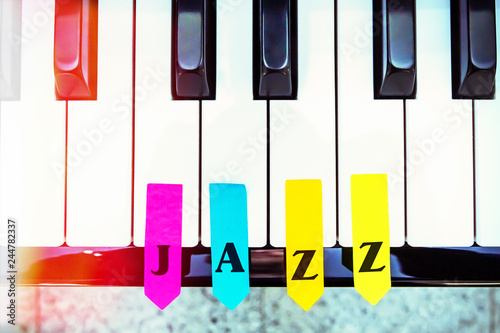 JAZZ Piano - Buy this stock photo and explore similar images