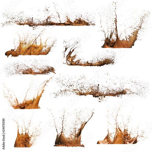 Fotomural  Mud Splashes isolated
