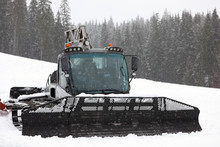 New Modern Snow Plow At Mounta...