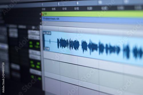 Fotografie, Obraz  Recording studio audio controls
