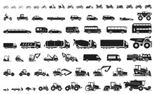 Set Of Various Transportation ...