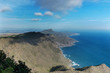 View from the mountain to the mountain coastline. Portman, Murcia, Spain.