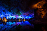 Cavern and water in Guilin, China - 244806970