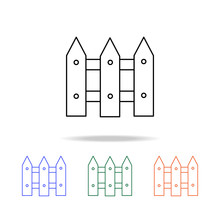 Fence Line Icon. Elements Of Real Estate In Multi Colored Icons. Premium Quality Graphic Design Icon. Simple Icon For Websites, Web Design, Mobile App
