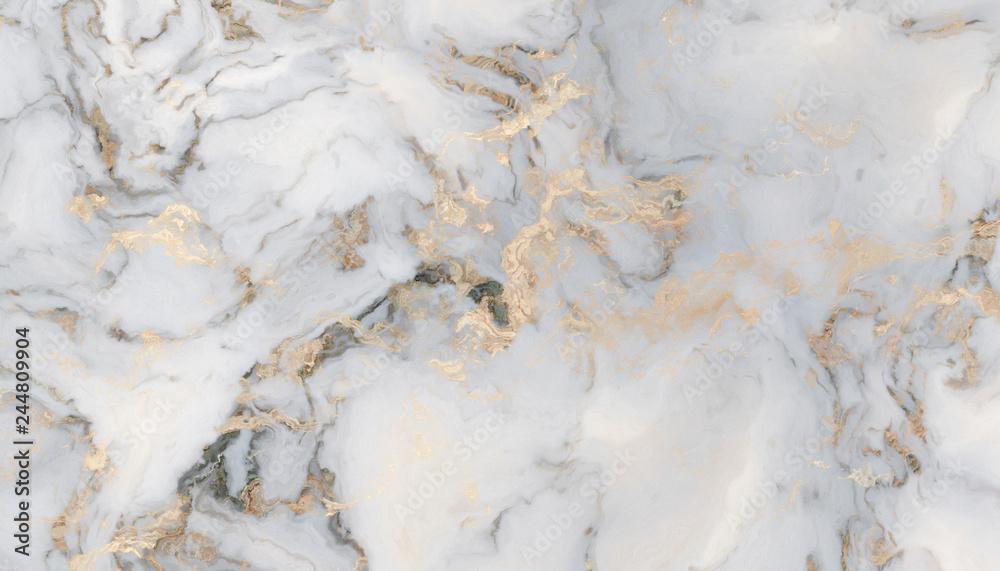 Fototapeta White curly marble