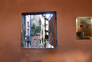 Bologna, Emilia Romagna, Italy. December 2018. A hidden part of the city reminiscent of Venice!