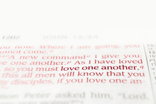 Bible Text Red Letters Reading...