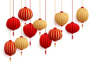 Chinese New Year Decorative Paper Lanterns.