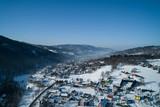 Fototapeta Miasto - Miasto Brenna - Zimowy pejzaż