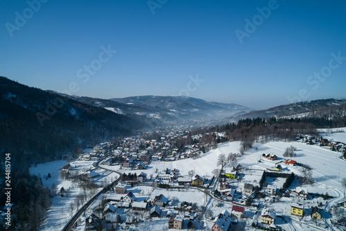 Miasto Brenna - Zimowy pejzaż